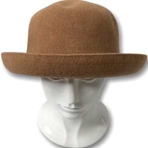 KANGOL WOOL FELT BOWLER HAT MADE IN GREAT BRITAIN